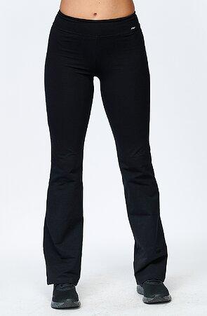 Tenšie priliehavé dlhé čierne dámske nohavice 4327