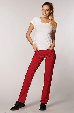 Letné dámske červene nohavice s úzkymi nohavicami 377