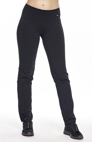 Jednoduché čierne dámske nohavice s úzkymi nohavicami 332