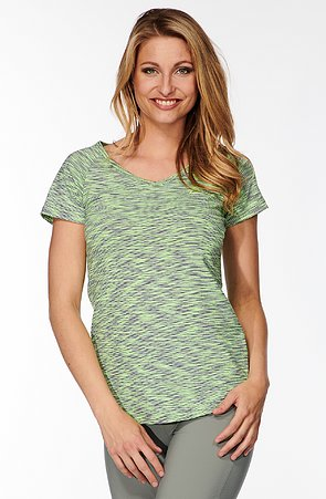 Melírove zelenošede dámske tričko 65