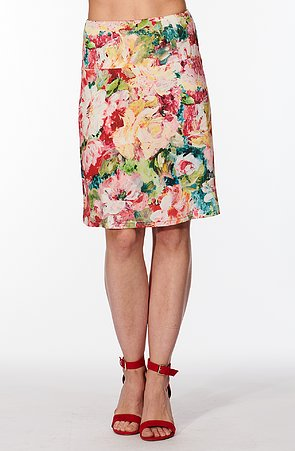 Letné širšie farebná dámska sukňa s pivonkami 133