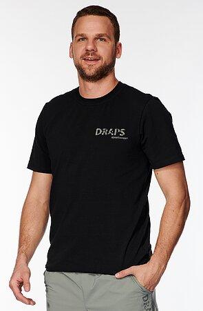 Bavlnené čierne pánske tričko s potlačou 485
