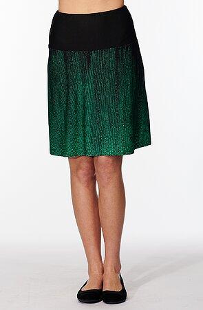Letná širšia zelenočierna dámska sukňa 133