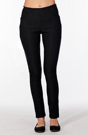 Čierne elegantné dlhé dámske nohavice 347