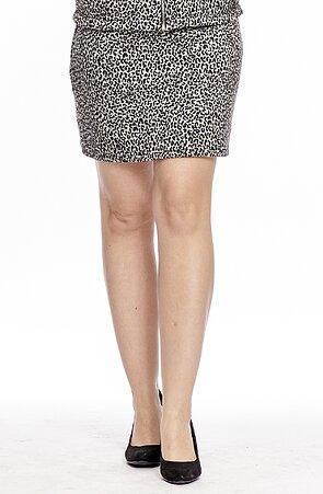 Kratšia leopardí dámska sukňa s širokým pásom 123