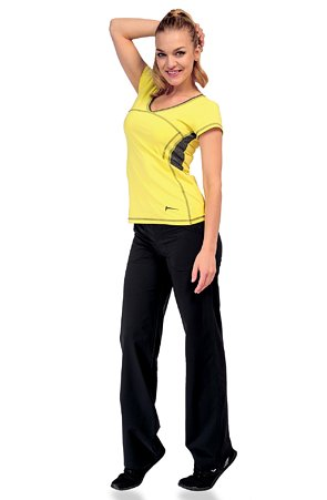 Športové funkčné dlhé čierne dámske nohavice 396 sil