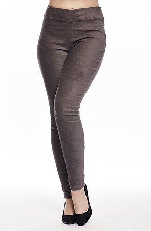Elegantné úzke semišové dámske nohavice 309