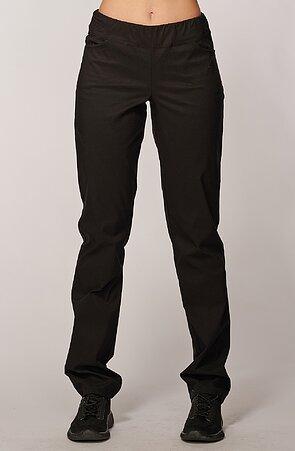 Teplejšie funkčné čierne dámske nohavice s vreckami 343