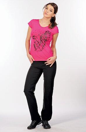 Letné čierne dlhé dámske nohavice s vreckami 303