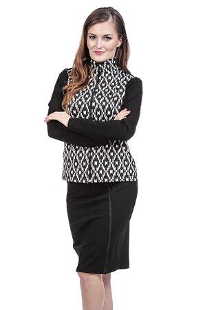 Dlhšia čierna dámska sukňa s rozparkom 177