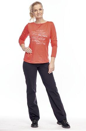 Športové dlhé čierne dámske nohavice 396 hon