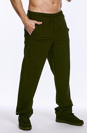 Letné funkčné čierne pánske nohavice s vreckami 410