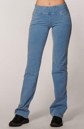 Úzke športové dámske nohavice s riflovým vzhľadom 349