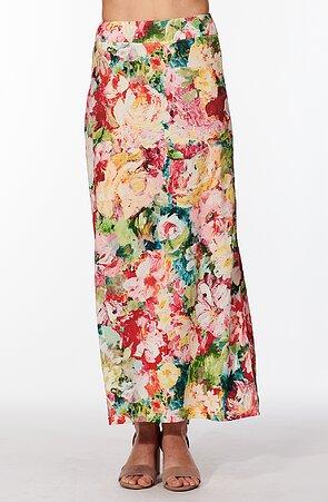 Letná dlhá kvetinová dámska sukňa 154
