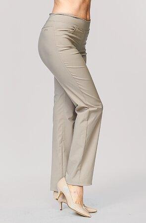 Dlouhé rovné béžové dámské kalhoty 375
