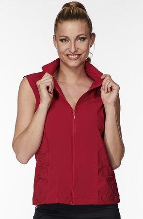 Funkčné červená dámska vesta s brzdičkou 691