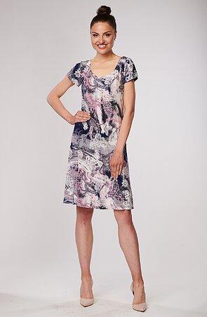 Farebné dámske šaty s kašmírom 7088