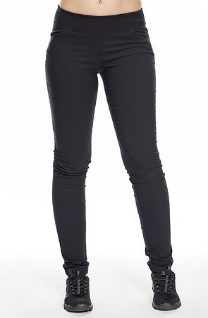 Čierne dlhé dámske nohavice s úzkymi nohavicami 374