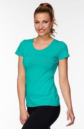 Bavlnené zelené dámske tričko s nápisom 40