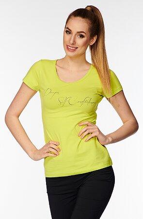 Bavlnené limetkove dámske tričko s nápisom 40