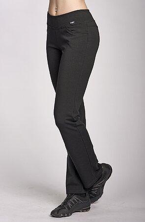 Úzke čierne športové dámske nohavice 349