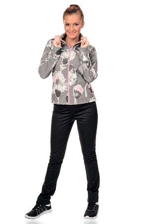 Čierne dámske softshellové nohavice s úzkymi nohavicami 926