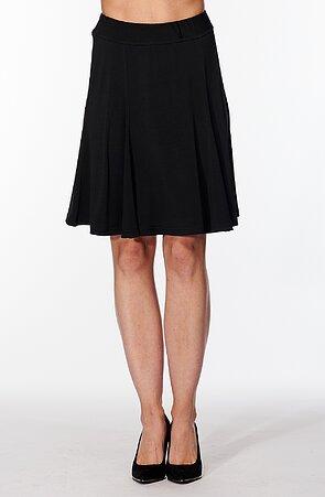 Rozšírená čierna dámska sukňa 161