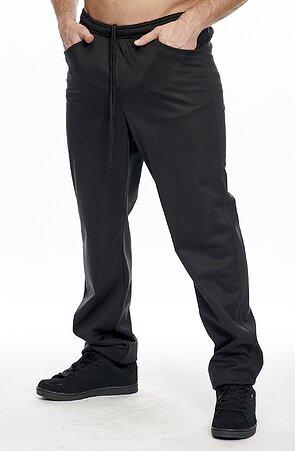 Softshellové čierne pánske nohavice s vreckami 963