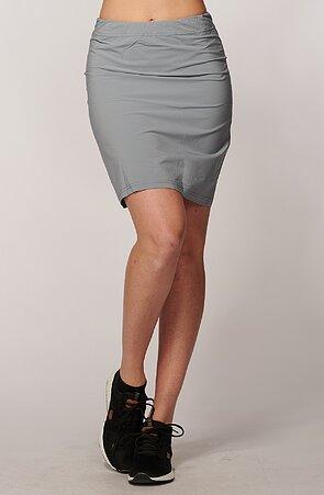 Funkčná rovná šedá dámska sukňa 108