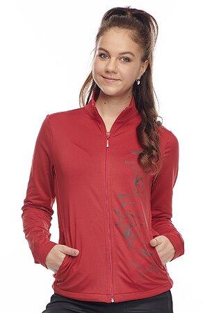 Červená dámska mikina s vreckami a potlačou 661