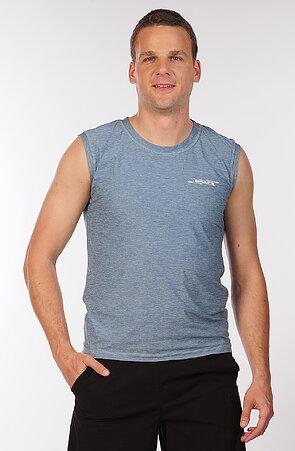 Športové sivomodré pánske tričko bez rukávov 464