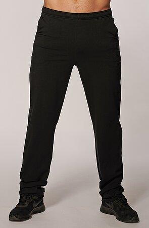 Užšie čierne pánske dlhé nohavice s vreckami 434