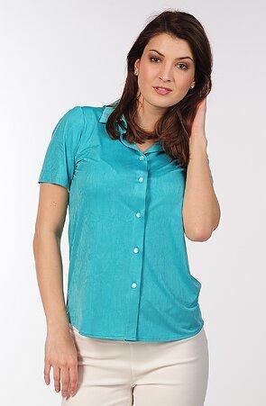 Košeľová zelená dámska blúzka 7754