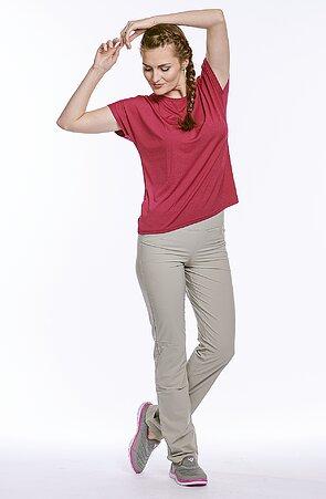 Letné béžové športové dámske nohavice 377 sil