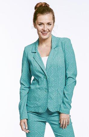 Priliehavé smaragdové dámske sako 7603