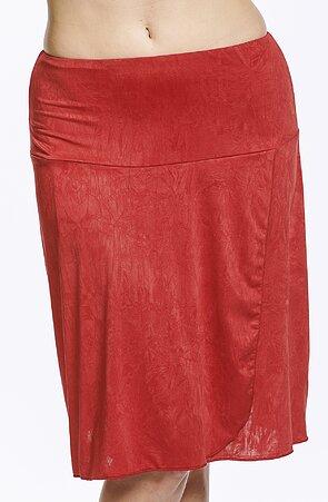 Letné zavinovacie červená dámska sukňa 147