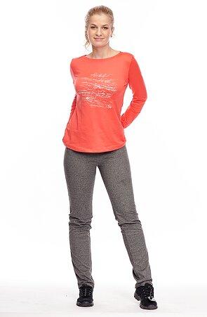 Elegantné šedé dlhé dámske nohavice 378