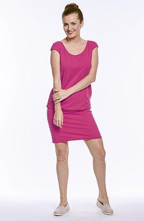 Letné športové ružové dámske šaty 7049