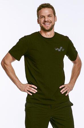 Bavlnené čierne pánske tričko 458