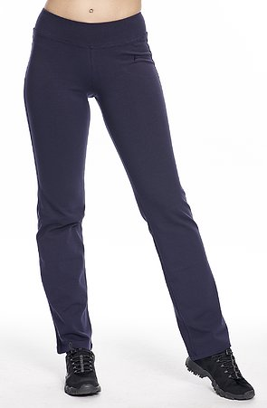 Jednoduché tmavo modré dámske nohavice 367