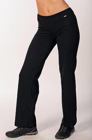 Jednoduché dlhé čierne dámske nohavice 367