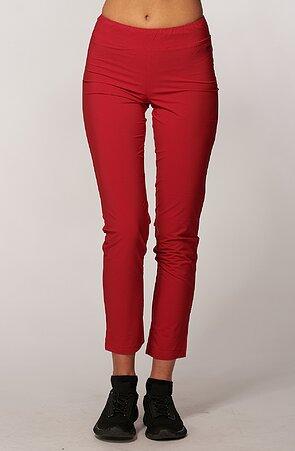 Ľahké červene dámske nohavice nad členky 313