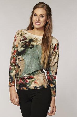 Kimonová kvetovaná dámska blúzka 775