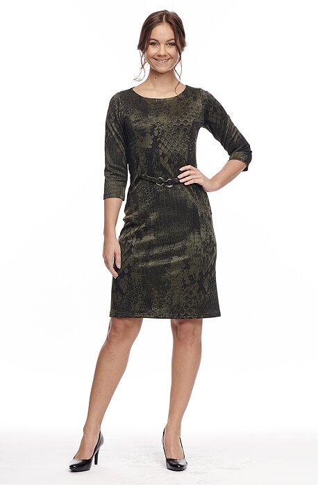 Priliehavé lesklé čiernozelené dámske šaty 7058