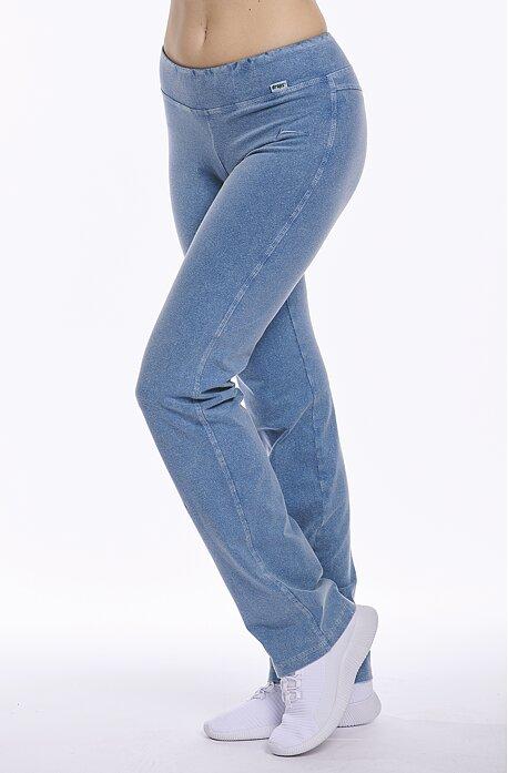Jednoduché dlhé dámske nohavice s riflovým vzhľadom 367