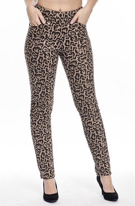 Leopardie elegantné dlhé dámske nohavice 347
