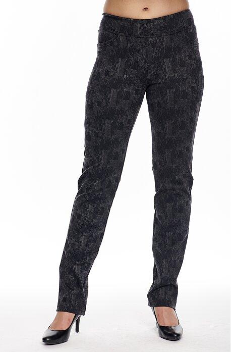 Elegantné rovné čierne žíhané dámske nohavice 385