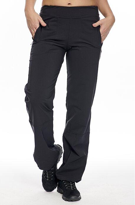 Funkčné čierne dámske nohavice s vreckami na zips 310