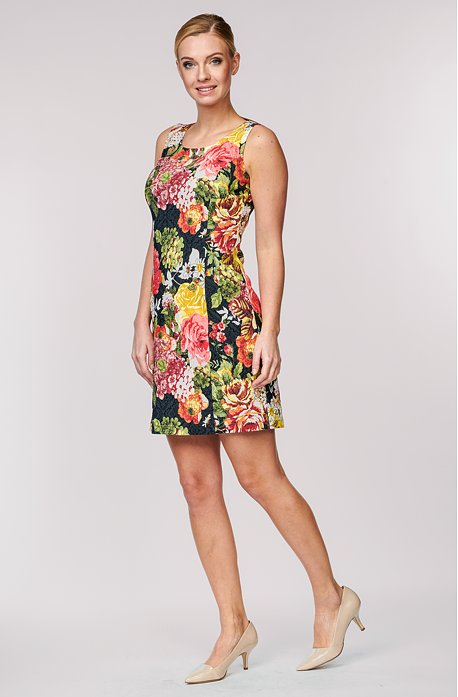Letní barevné květované dámské šaty bez rukávů 817