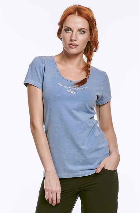 Riflové dámske tričko s nápisom 77